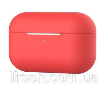 Чехол силиконовый для наушников Apple Airpods Pro, силикон, разные цвета Красный