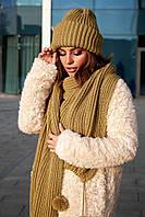 Комплект шапка и длинный шарф Dance