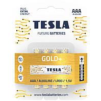 Батарейки Tesla AAA (LR03) Gold+ 1.5V 4шт