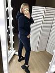 Женский спортивный костюм, трехнить на флисе, р-р 42-44; 46-48; 50-52 (тёмно-синий), фото 4