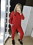 Женский спортивный костюм, трехнить на флисе, р-р 42-44; 46-48; 50-52 (крансый), фото 5
