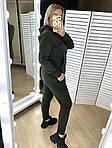 Женский спортивный костюм, трехнить на флисе, р-р 42-44; 46-48; 50-52 (хаки), фото 5