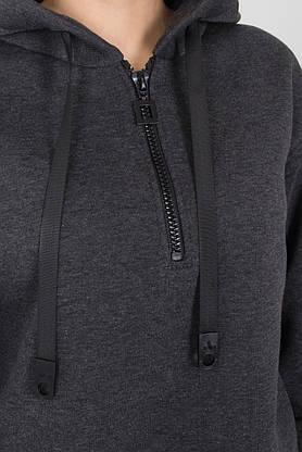 Женский спортивный костюм теплый с начесом серый, фото 3