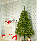 Сосна искусственная Распушенная зеленая 1м, новогодняя зеленая сосна жилка-ПВХ с подставкой, фото 4