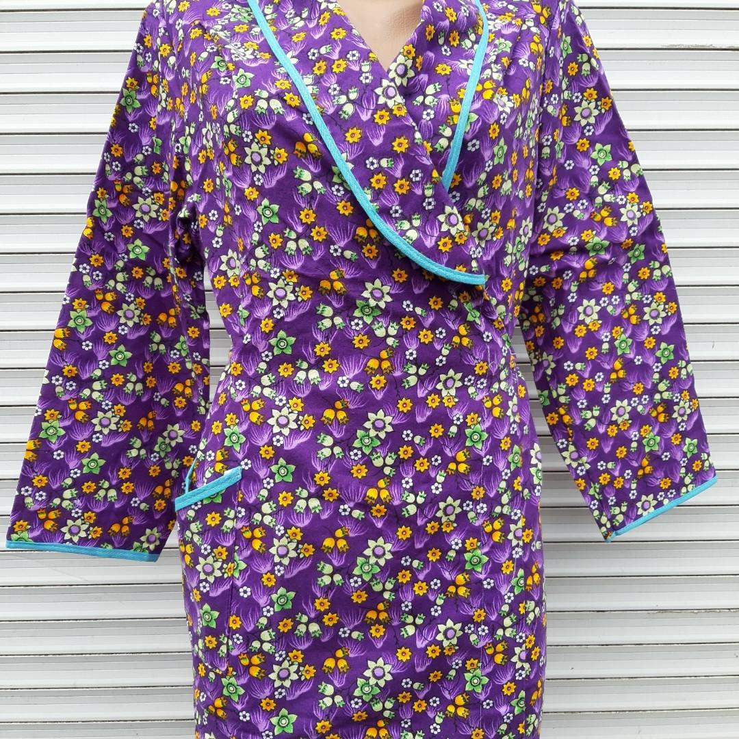 Теплый фланелевый халат на запах 54 размер Фиолет