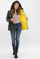 Короткая куртка цвета хаки на биопухе размер S M L XL 2XL, фото 2