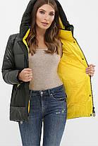 Короткая куртка цвета хаки на биопухе размер S M L XL 2XL, фото 3