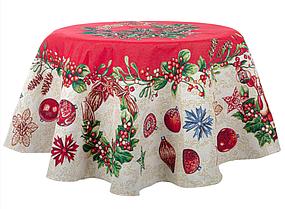 """Скатерть праздничная, гобеленновая, круглая """"Wink"""", размер 140х140 см"""