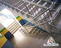 Перила з дворівневими поручнями для школи, гімназії, спортивного центру, фото 1