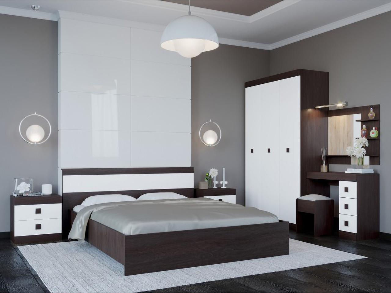 Спальня комплект 4 ЭВЕРЕСТ Дуб сонома + Белый, фото 2