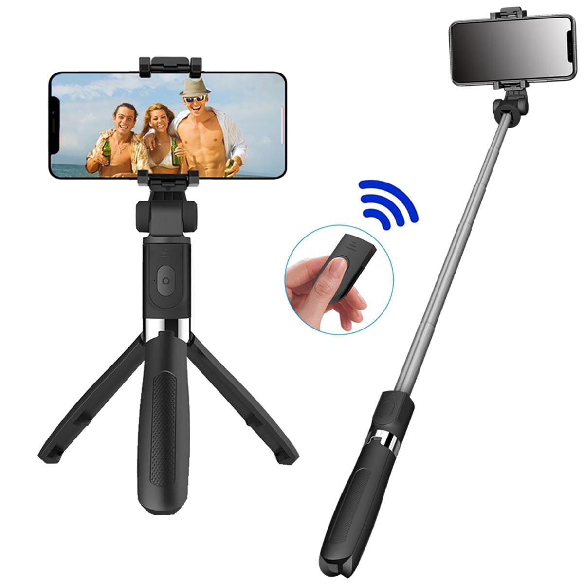 Штатив для телефона селфи палка Adna Selfie L01s тринога с кнопкой-пультом Bluetooth