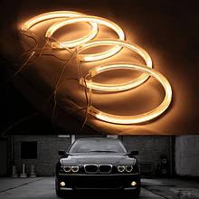 Ангельські очки (4*131 мм) CCFL для BMW E36 жовті
