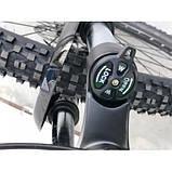 Велосипед черно зеленый TopRider 901 29 дюймов алюминий, фото 3