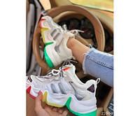 Жіночі демісезонні кросівки різнокольорові з еко шкіри 36-38р