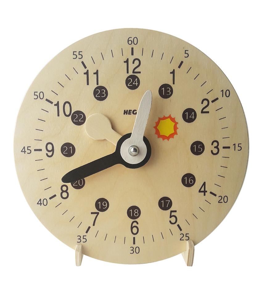 Модель механічного годинника день ніч Hega (245)
