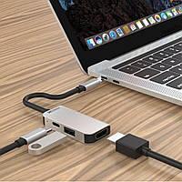 Переходник кабельный для Macbook ZAMAX 3в1 Type-C to HDMI USB 3.0 PD Multifunction Adapter для макбук хаб
