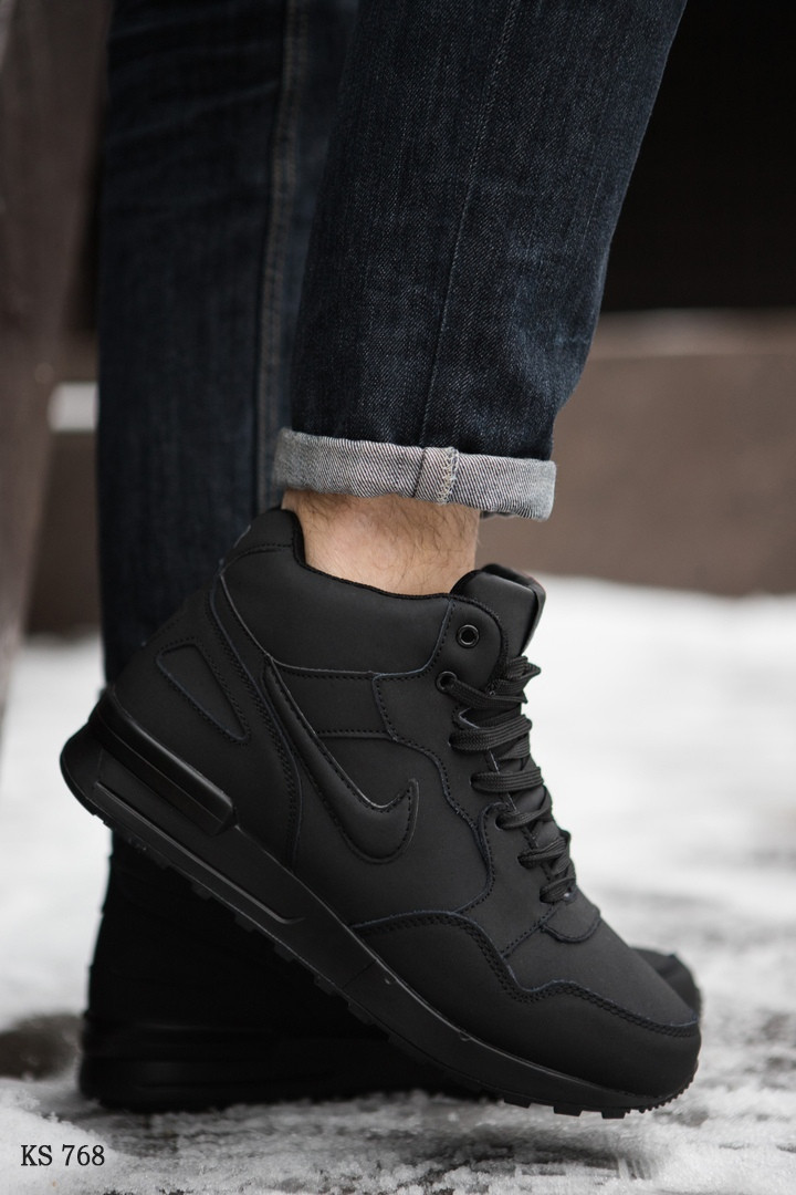 Nike Air Max 87 (черные) ЗИМА cas