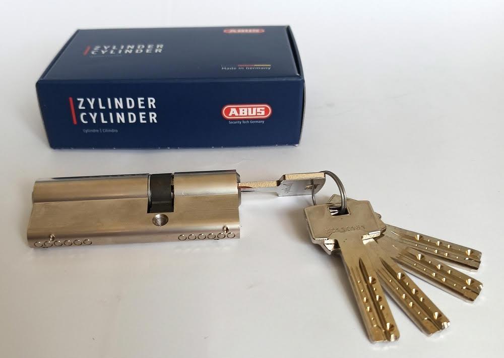 Цилиндр Abus M12R 80мм (35х45) ключ/ключ 5 кл. Матовый хром