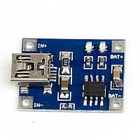 Контроллер для зарядки литий-ионных батарей, Mini USB 1A