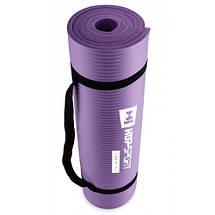 Фитнес коврик тренировочный HS-N010GM 1 см violet, фото 3