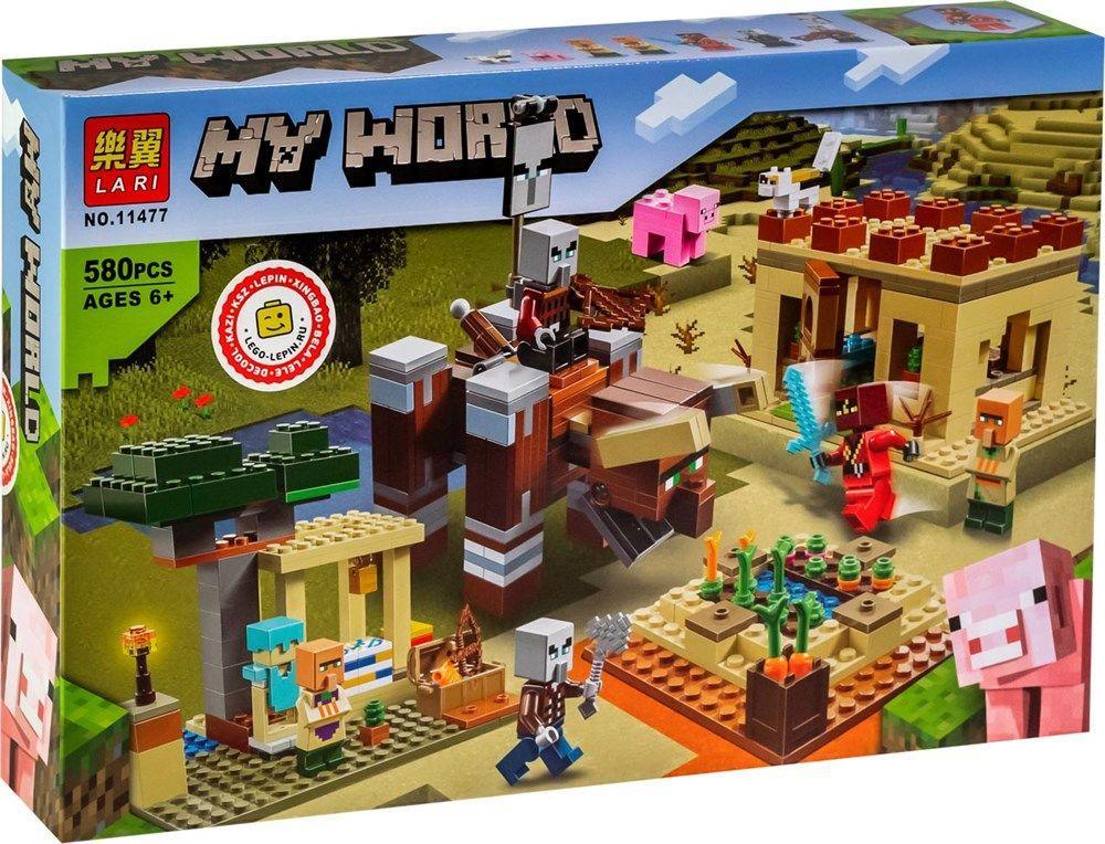 Конструктор Minecraft 11477 My World Патруль Разбойников 580 Деталей