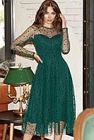 Женское нарядное платье Изумрудный