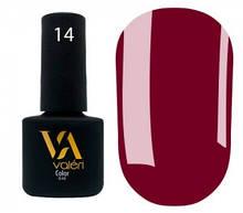 Гель-лак Valeri №014 (винно-бордовый, эмаль), 6 мл