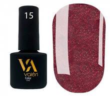 Гель-лак Valeri №015 (винно-бордовый, микроблеск), 6 мл