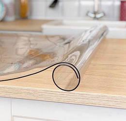 Прозрачная силиконовая скатерть Мягкое стекло Soft Glass Покрытие для мебели 1.2х1.8м (толщина 0.5мм)