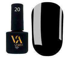 Гель-лак Valeri №020 (черный, эмаль), 6 мл