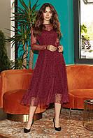 Женское нарядное платье Марсала