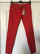 Брюки женские красные коттон летние rinascimento, фото 3