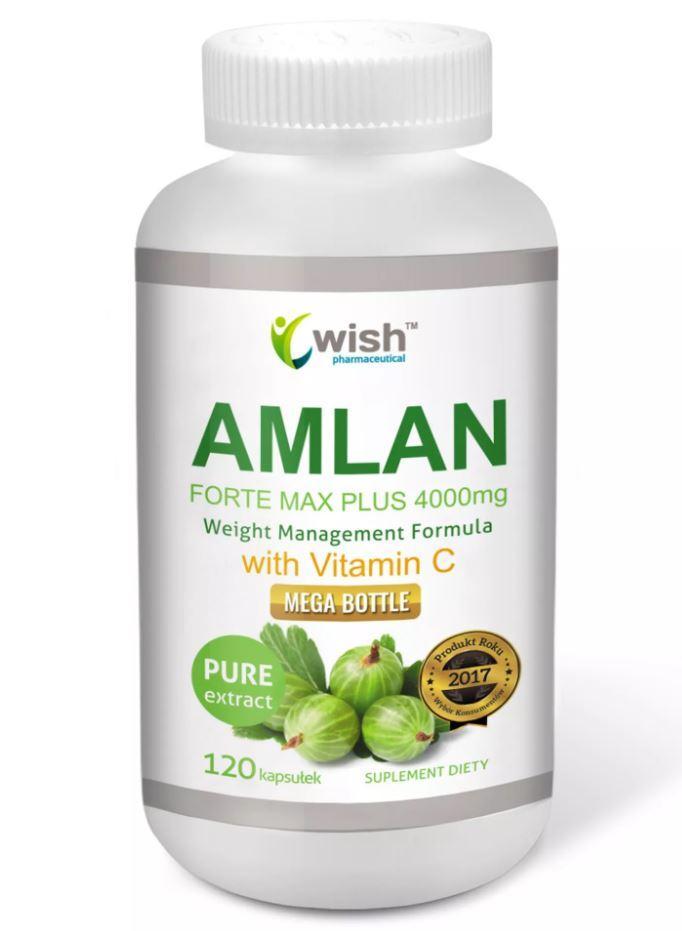 Амла Экстракт (индийский крыжовник), Amlan Forte Max Plus 4000 mg 120 caps, Wish