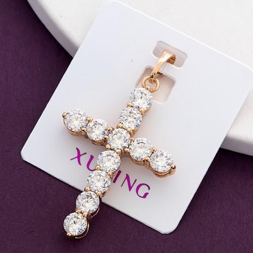 Крестик xuping длина 3.8см медицинское золото позолота 18К к314