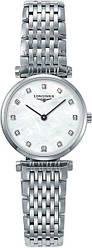 Часы наручные женские LA GRANDE CLASSIQUE DE LONGINES L4.209.4.87.6, кварц, на браслете, 12 бриллиантов