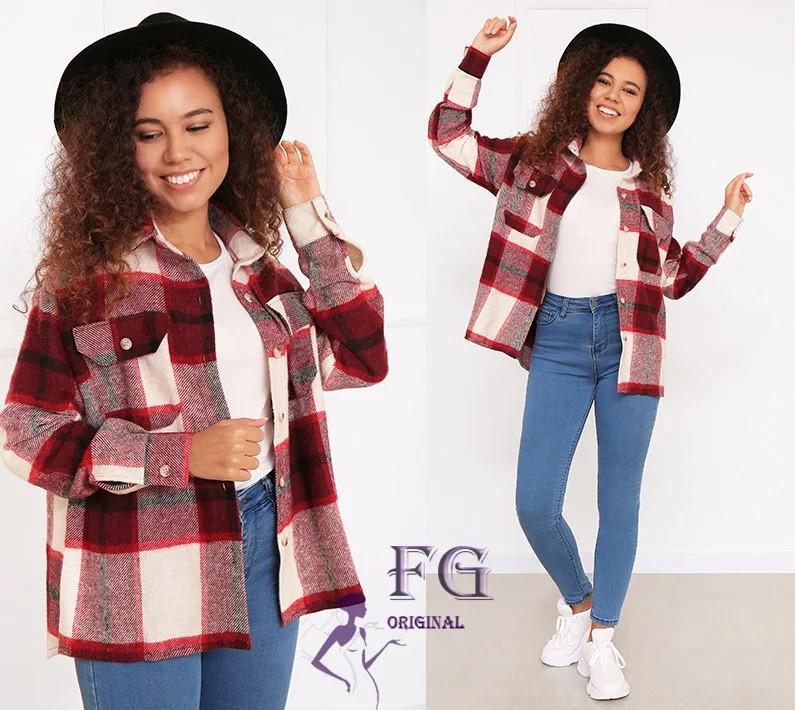 Сорочка-пальто жіноче кашемір