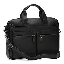 Мужская кожаная сумка Keizer K17122-black