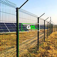 Секционный забор (панельное ограждение) 1.2х2.5 м, 3/4 мм, секционное сварное ограждение 3D (секции забора)