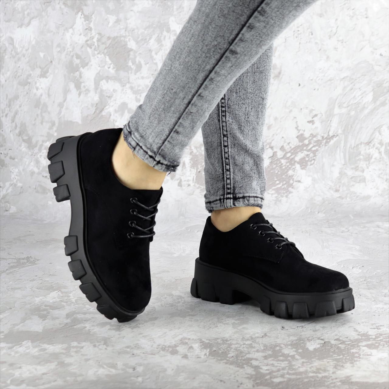 Туфли женские Fashion Chomper 2340 36 размер 23,5 см Черный