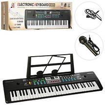 Синтезатор музыкальный (MQ6111-12) микрофон, 61 клавиша., фото 3