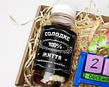 """Подарочный набор """"Сладкие времена"""": вечный календарь """"Кот"""" и конфетки в баночке """"Сладкая жизнь на все 100"""", фото 5"""