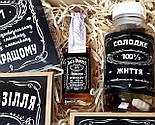 """Набор для мужчины """"Jack Daniel's"""" № 5 (Джек Дениелс): мини-виски, конфеты, печенье, чай, открытка, фото 4"""