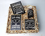 """Набор для мужчины """"Jack Daniel's"""" №4 (Джек Дениелс): конфеты, печенье, чай, открытка, фото 2"""