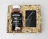 """Подарунок для чоловіка """"Гостро і солодко"""": ніж кредитка, баночка з цукерками """"Солодке життя 100% справжнього чоловіка, фото 3"""