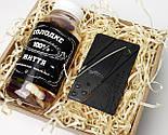 """Подарунок для чоловіка """"Гостро і солодко"""": ніж кредитка, баночка з цукерками """"Солодке життя 100% справжнього чоловіка, фото 4"""