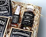 """Набор для мужчины """"Jack Daniel's"""" № 5 (Джек Дениелс): мини-виски, конфеты, печенье, чай, открытка, фото 8"""