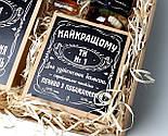 """Набор для мужчины """"Jack Daniel's"""" № 5 (Джек Дениелс): мини-виски, конфеты, печенье, чай, открытка, фото 10"""