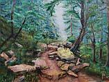 "Картина маслом ""Лісова стежка в Карпатах"", живопис 40*50, фото 2"