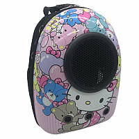Космический рюкзак-иллюминатор переноска, пластик, 32х42х29 см, Kitty розовый