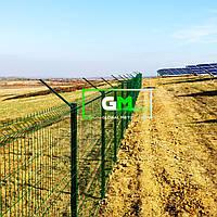 Секционный забор (панельное ограждение) 2.05х2.5 м, 3/4 мм, секционное сварное ограждение 3D (секции забора)